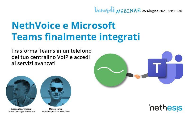 NethVoice e Microsoft Teams finalmente integrati